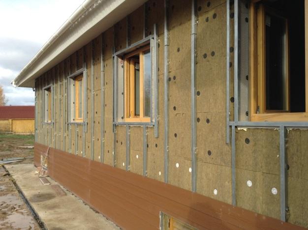 Отделка фасадов частных домов фото металлический сайдинг